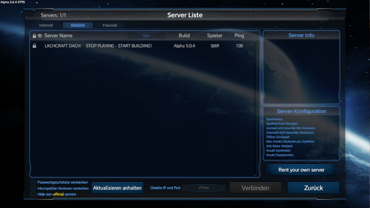 Empyrion – Neuer Server, alte Daten