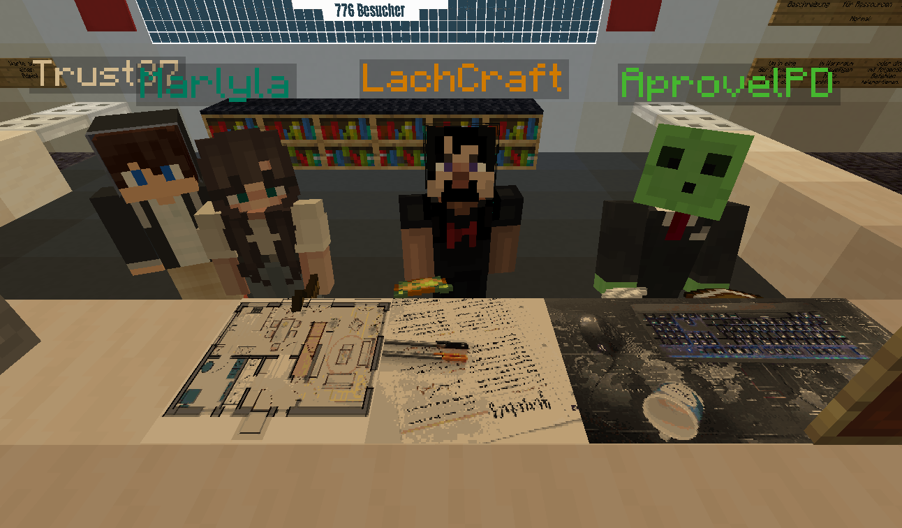 Das Team des Minecraft-Servers für Erwachsene!